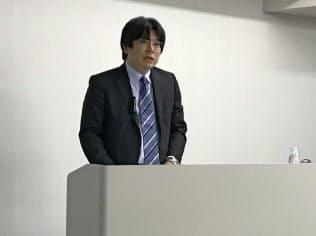 決算を説明する太田裕朗社長