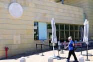 エルサレムにある在イスラエル米大使館(12日)=共同