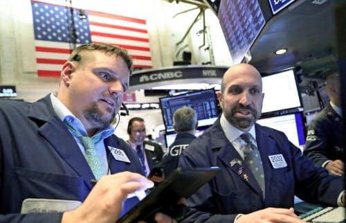14日のニューヨーク株式市場で米国株は2営業日ぶりに反発した(ニューヨーク証券取引所)=ロイター