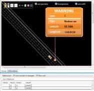 三菱電機とヒアは道路の異常と位置情報を正確に把握する(画像は警告情報のイメージ)