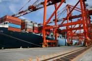 中国発米向けの海上コンテナ輸送は3カ月連続で減少