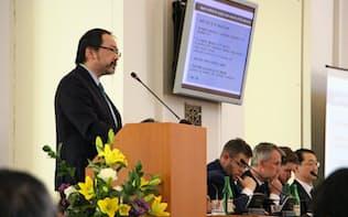 「プラハ5Gセキュリティー会議」には米英豪のほか日本や韓国も参加した(2日、プラハ)