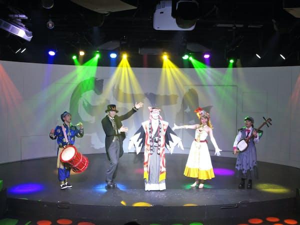 プロジェクションマッピングを駆使した新感覚のミュージカル「GOTTA」(大阪市の「道頓堀ZAZA」)