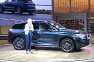 フォードは19年中に高級車ブランド「リンカーン」の中国生産を開始する(4月に発表した新型SUV「コルセア」)