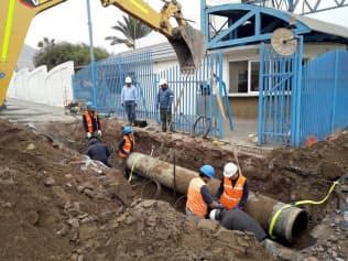 老朽水道管の工事には人手がかかるため、効率的な計画作りが求められる