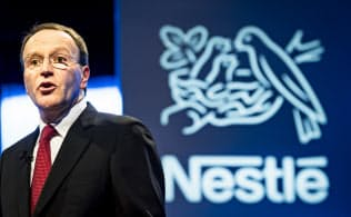 ネスレのシュナイダー最高経営責任者は事業の再編を加速している=AP