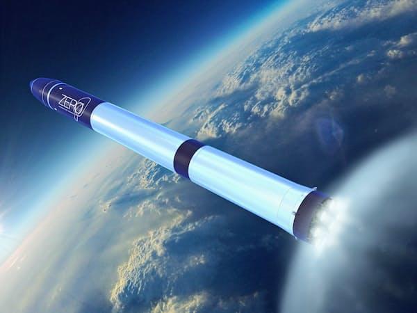 2023年の打ち上げを目指す2段式ロケット「ゼロ」のイメージ図