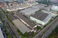 新工場は日系企業と共同開発した最新機械を導入する(タイのチョンブリ県)