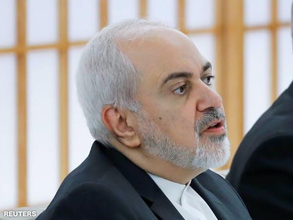 イランのザリフ外相(5月16日、東京)=ロイター