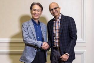 ソニーの吉田社長がマイクロソフトのナデラCEOと提携に向けて意向を確認した
