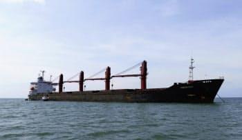 押収された北朝鮮の貨物船=米司法省提供、AP・共同
