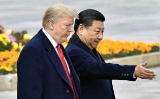 習近平氏とトランプ氏は友情を育んできたはずだが……(2017年11月、北京)=共同
