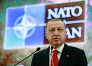 北大西洋条約機構(NATO)加盟国のトルコはロシアに接近する(エルドアン大統領)=AP