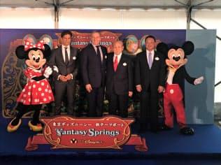 東京ディズニーシーの8つ目のエリア「ファンタジースプリングス」の起工式を開いた