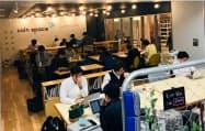 会員登録不要で、インターネットで座席予約ができる(東京都渋谷区のコインスペース渋谷マークシティ店)