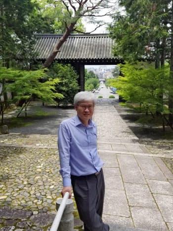 週末に寺社などを訪れるのが楽しみ(2018年5月、京都市の妙心寺)
