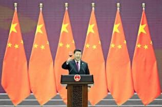 一帯一路を進める中国は国際金融分野でも透明性確保が求められている=共同