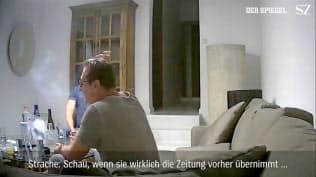 隠し撮りされたビデオでシュトラッヘ氏は副首相辞任に追い込まれた=ロイター