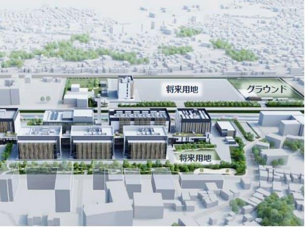 中外製薬が横浜市に建設する新研究所の完成イメージ