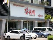 ヤンゴン市内の保険会社の店舗