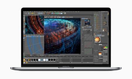 アップルが発表したノート型パソコンの最上位機種「マックブックプロ」の新モデル