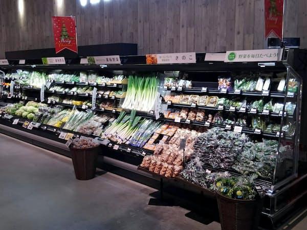 全国の生協が自然冷媒の冷蔵ケースの導入を進める(仙台市にあるみやぎ生協の「BRANCH仙台店」)