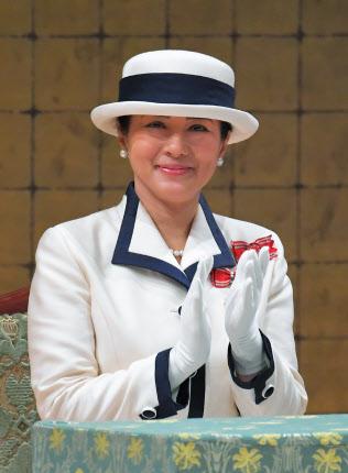 全国赤十字大会に出席した皇后さま(22日、東京都渋谷区)=代表撮影