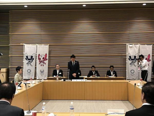 関東地方知事会議であいさつする千葉県の森田健作知事(22日、東京都内)