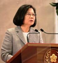 台湾の蔡英文総統は中国への対抗姿勢を鮮明にしている(20日、台北市内)