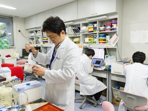 横浜市立大は産学連携で研究を強化する(同大学の研究施設)