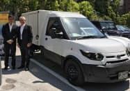 ストリートスクーター社の小型EV。19年秋にヤマト運輸が500台導入する