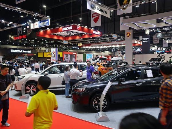 東南アジア最大級の自動車展示会「バンコク国際モーターショー」(3月、バンコク北部のノンタブリ県)