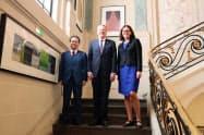 会談した日米欧の通商担当閣僚(23日、パリ)