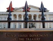 米財務省(ワシントン)=ロイター