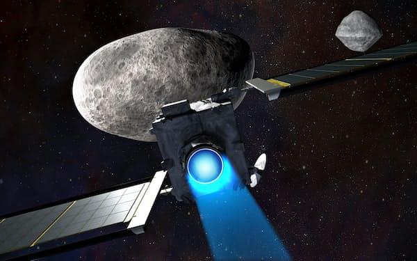 米探査機DARTが小惑星に衝突する想像図=NASA提供