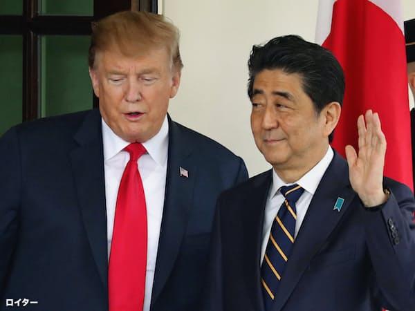 トランプ氏の来日は2017年11月以来。大統領としては2回目となる(写真は4月の日米首脳会談)=ロイター