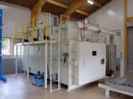 研究施設内に導入した木材乾燥装置(白山市)