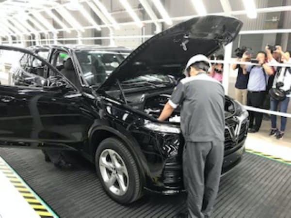 ビングループは本格的な自動車生産に向けて準備を急いでいる(ベトナム北部、ハイフォン市)