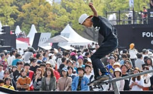 東京五輪では都市型スポーツのスケートボードが初採用された(4月、広島市の国際大会)
