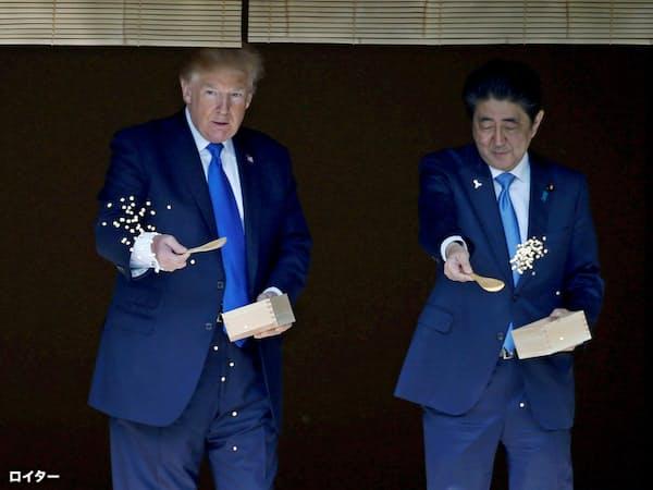 米大統領の2カ月連続訪日は異例(写真はロイター、2017年11月の来日時)