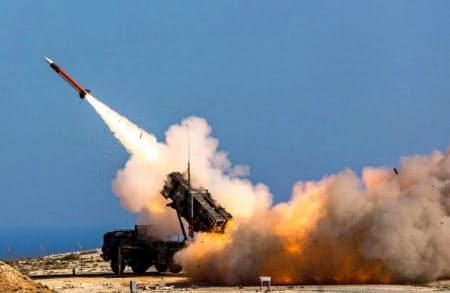 米軍の地対空ミサイル「パトリオット」=AP