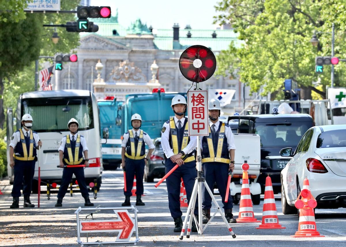 都内警備は最高レベル、警察2万5千人動員