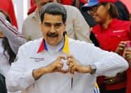 ベネズエラのマドゥロ大統領(20日、カラカス)=AP
