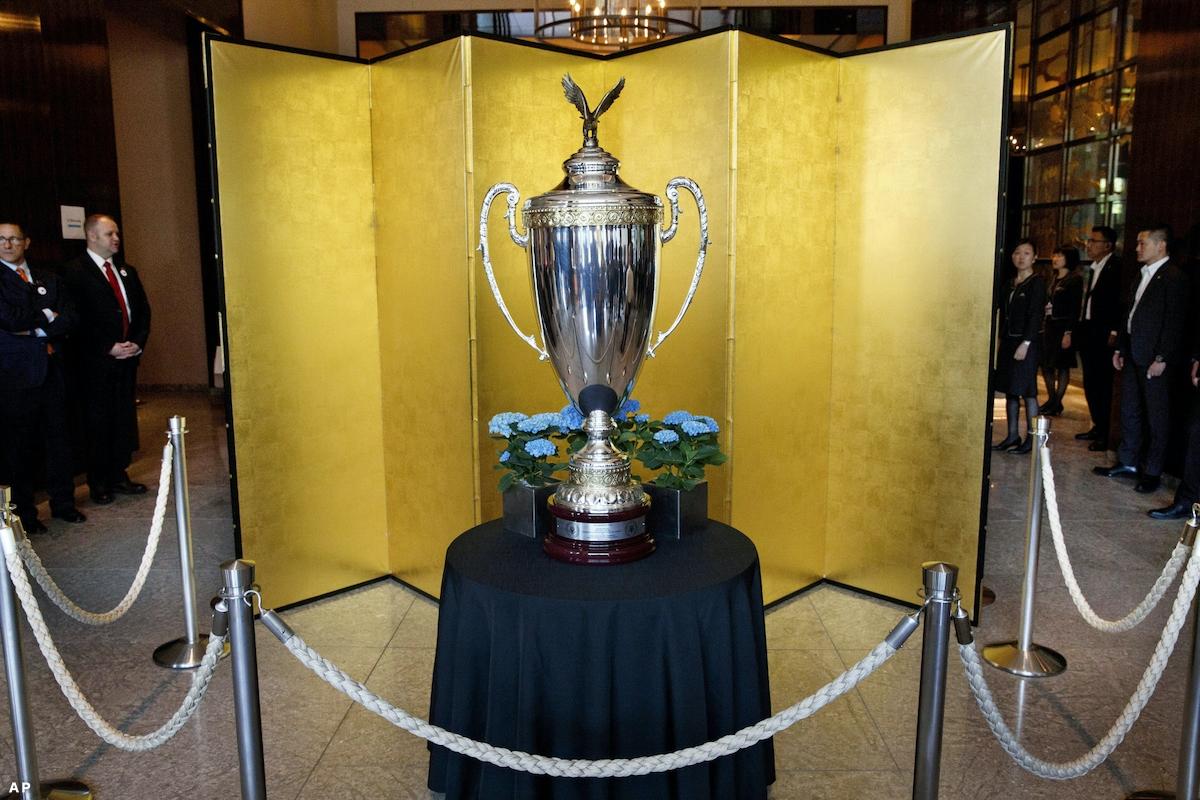 大相撲の「大統領杯」公開