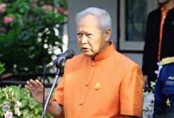 プレム枢密院議長は軍や政財界に大きな影響力を持つ重鎮だった(2014年、バンコク)