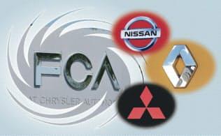 イタリアのフィアットと米国のクライスラーという2つの名門が統合したFCAは再編巧者として知られる(コラージュ、写真一部はロイター)