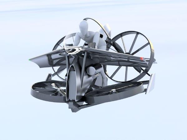 プロペラで推進力を得る(テトラ・アビエーションが開発する空飛ぶクルマのイメージ)