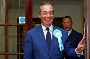 欧州議会選で大勝したファラージ氏率いるブレグジット党は、国政への進出も目指す=ロイター