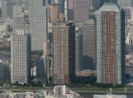 賃貸マンションは賃料も下落傾向だ(東京都中央区)