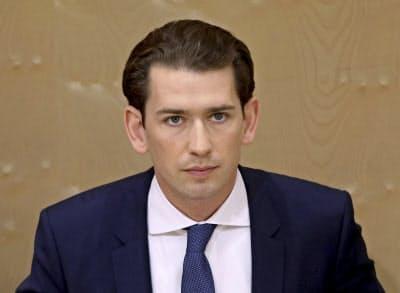 退任が決まったオーストリアのクルツ首相=AP